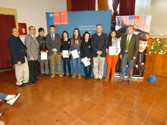 Alumnos beca Presidente de la republica alumnos Panquehue
